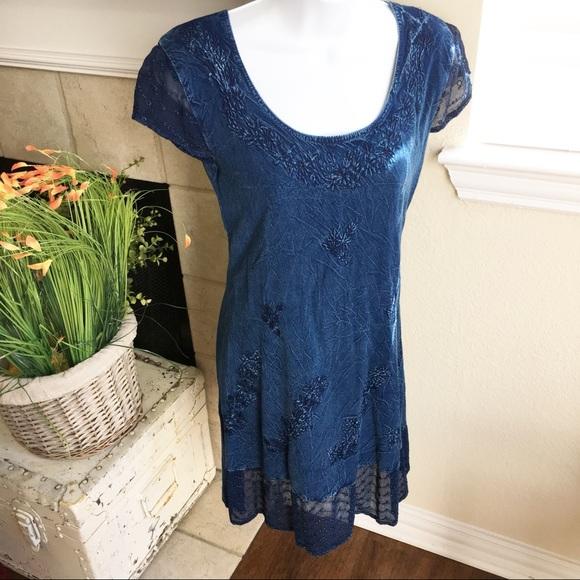 488d3b270a64 Raya Sun denim lace dress. M 5ad15b92739d48a79ff90dba